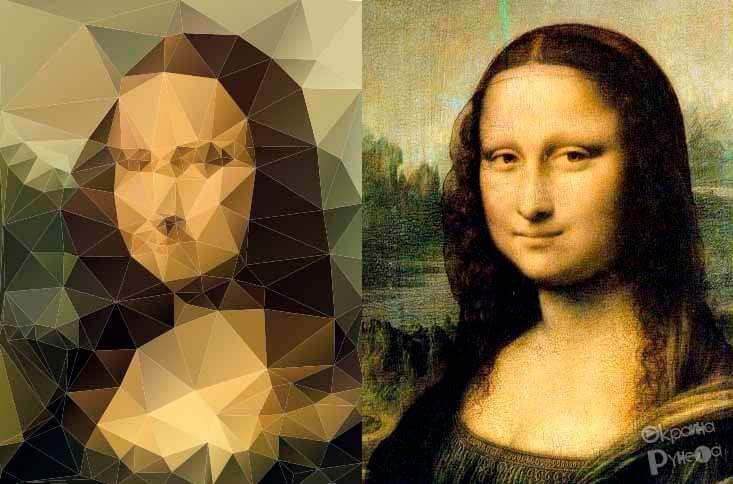 Создание полигонального портрета онлайн 3