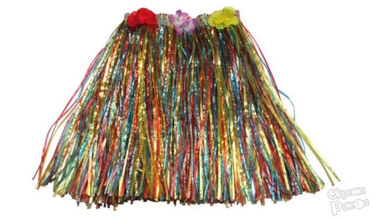 Гавайская юбка из елочного дождика