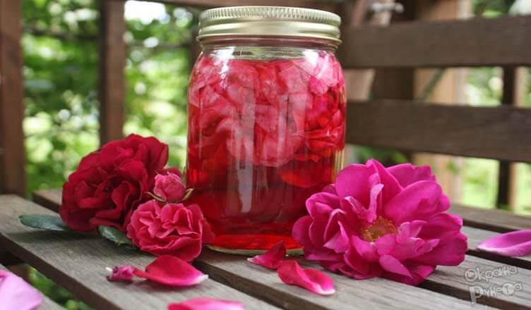 косметика из лепестков роз