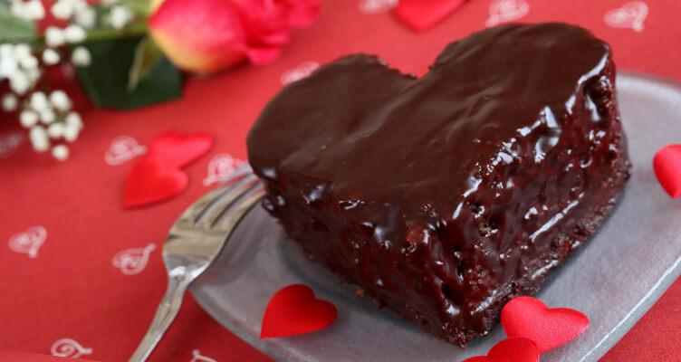 Торт сердечком